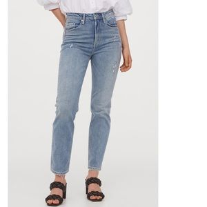 New H&M Vintage Slim High Ankle Jeans | Size 8